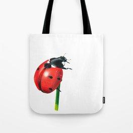 Ladybug | Colored pencil drawing Tote Bag