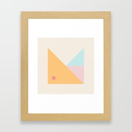 Modern Minimal Geometry Framed Art Print