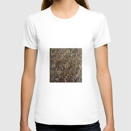Bronze Metal Wood Abstract Painting T-shirt