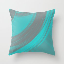 Gray semicircular sections of heavenly fabric with intersections of foggy ribbons.  Throw Pillow