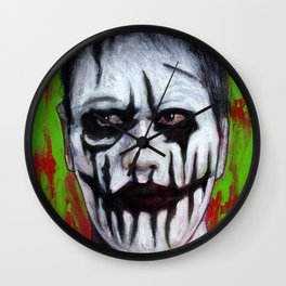 Portrait - Face Painted Ghoul Wall Clock