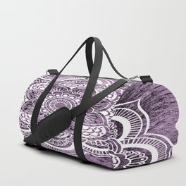 Mandala Grayish Purple Colorburst Duffle Bag
