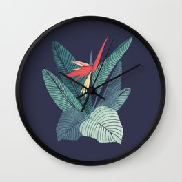 Bird Of Paradise Flower | Strelitzia Illustration Wall Clock