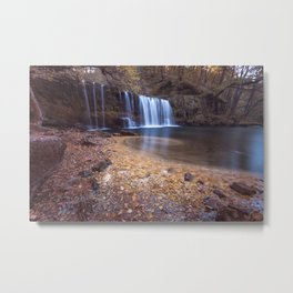 Sgwd Ddwli Uchaf waterfalls South Wales Metal Print