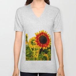 Sunflower Garden Unisex V-Neck