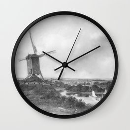 Nicolaas Johannes Roosenboom - Landschap Wall Clock