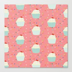 cupcakes and sprinkles Canvas Print