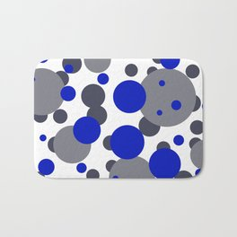 Bubbles blue grey- white design Bath Mat