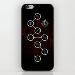 Path of Suns on Red iPhone Skin