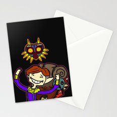 Happy Mask Salesman Stationery Cards