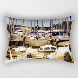Boats in harbor Rectangular Pillow