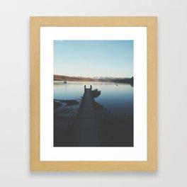Windermere Boat Pier Framed Art Print