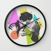 kiss Wall Clocks featuring Kiss by Zeke Tucker