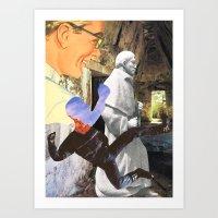 spiritual Art Prints featuring Spiritual Freefall by Michael Harford