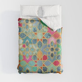 Gilt & Glory - Colorful Moroccan Mosaic Duvet Cover