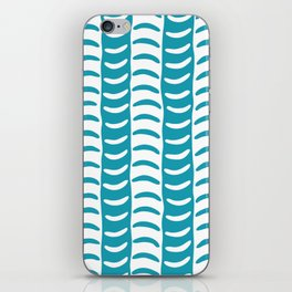 Wavy Stripes Turquoise iPhone Skin