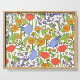 Birds and Wild Blooms Serving Tray