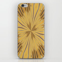 Yellow and Ochre Flower Pattern Abstract 2 iPhone Skin