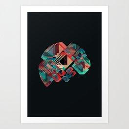 Circle Stacks Art Print