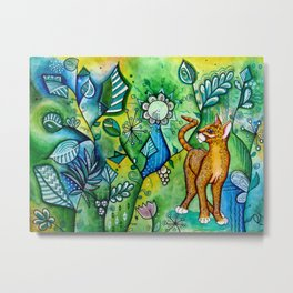 cat in the jungle Metal Print