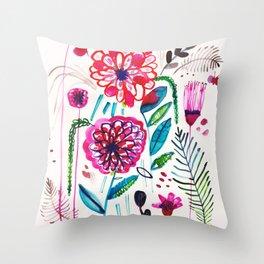 Wild Dahlias Throw Pillow
