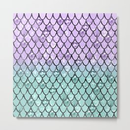 Mermaid Princess Glitter Scales #2 #shiny #pastel #decor #art #society6 Metal Print
