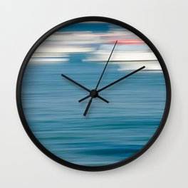 Abstract Boats on Sunny Day Wall Clock