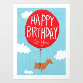 Birthday Balloon Art Print
