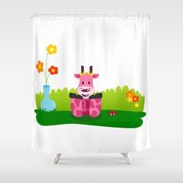 La jirafa Margarita Shower Curtain