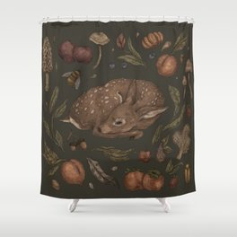 Foraging Fawn Shower Curtain