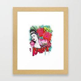 Kimbra 90s Music Framed Art Print