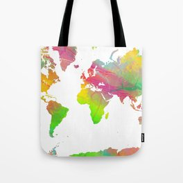 World Map - Watercolor 9 Tote Bag