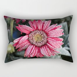 Frosty Pink Gerber Daisy Rectangular Pillow