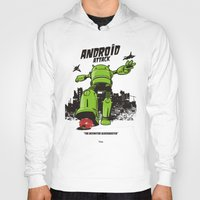 android Hoodies featuring ANDROID ATTACK by Adams Pinto