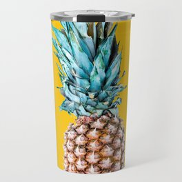 Pineapple Ananas On A Yellow Mellow Background #decor #society6 #buyart Travel Mug