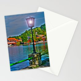 Lantern at the Lake Schliersee Stationery Cards