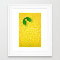 lemon Framed Art Prints featuring Lemon by Diego Tirigall
