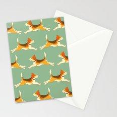 Beagle Pattern Stationery Cards