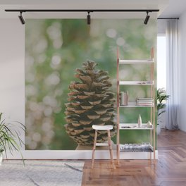Pinecone in the Fall Wall Mural