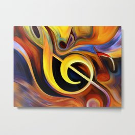 music, painting Metal Print