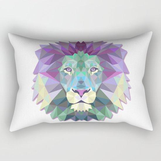 Colorful Lion Rectangular Pillow