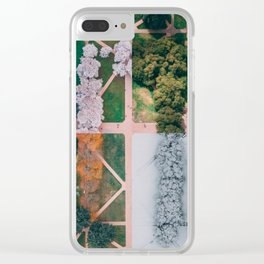 UW Cherry Blossoms: 4 Seasons Clear iPhone Case