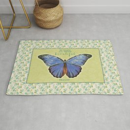Fly By Faith Butterfly by Terri Conrad Designs Rug