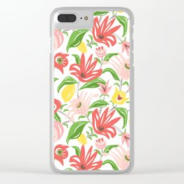 Island Garden Floral Clear iPhone Case