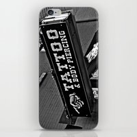 tattoos iPhone & iPod Skins featuring Tattoos Here by Biff Rendar