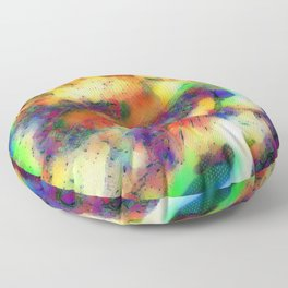 Colours of the Jungle Floor Pillow