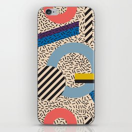 Memphis Inspired Pattern 3 iPhone Skin