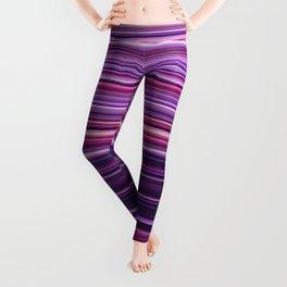 Pink Purple Stripes Leggings