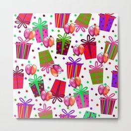 Birthday Gifts and Balloons Metal Print
