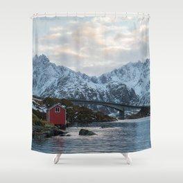Lofoten winter Shower Curtain